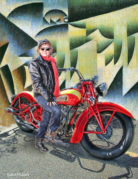 Pat And The Red Indian Motorcycle