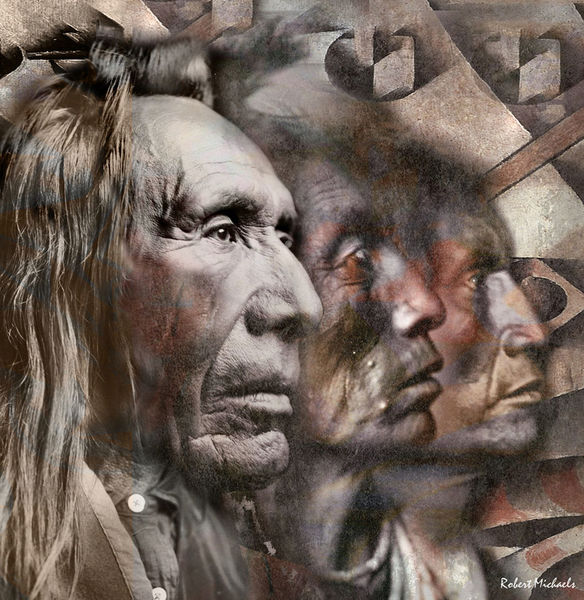Three Native American Faces