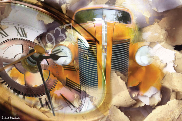 1937 Orange Buick Collage